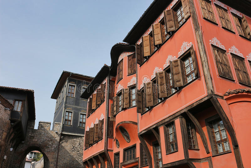 Gammal stad i Plovdiv royaltyfri foto
