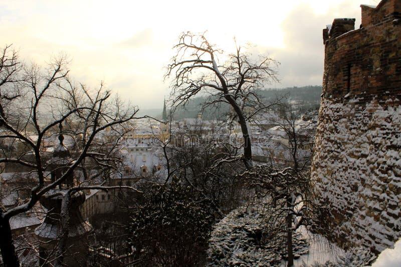 Gammal stad i Prague, Tjeckien fotografering för bildbyråer