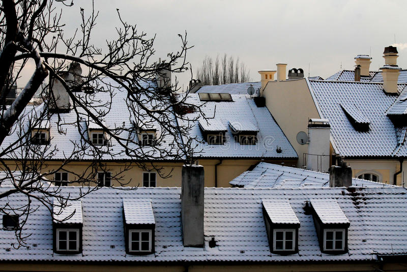 Gammal stad i Prague, Tjeckien arkivbild