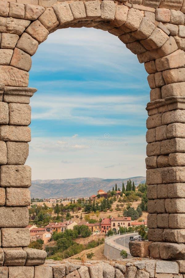 Gammal stad i Segovia, Spanien arkivfoton