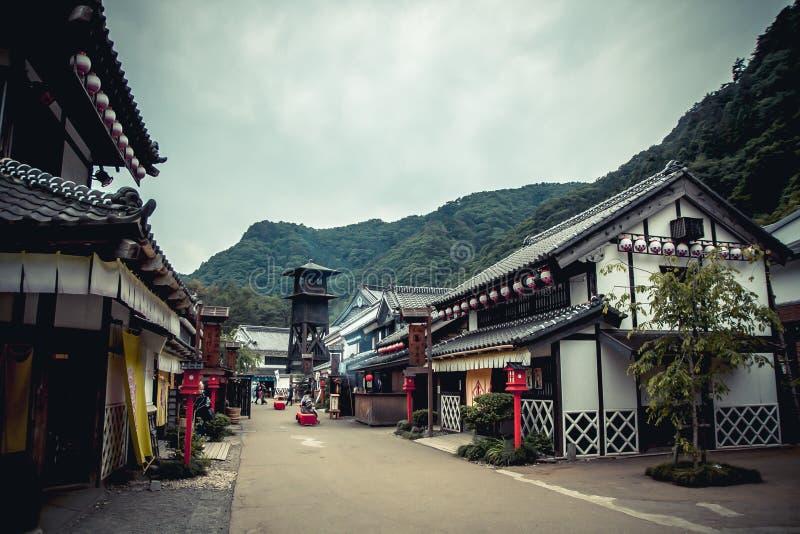 Gammal stad Japan royaltyfria bilder