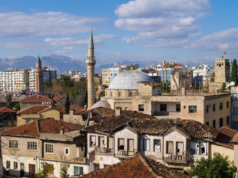 Gammal stad Kaleici, Antalya, Turkiet royaltyfri foto