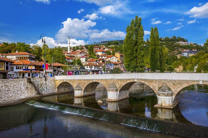 Gammal stad Sarajevo - Bosnien och Hercegovina royaltyfri fotografi