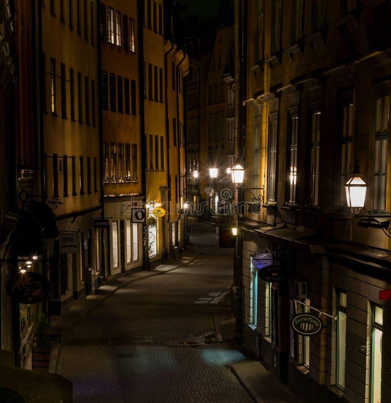 Gammal stad - Stockholm royaltyfri foto