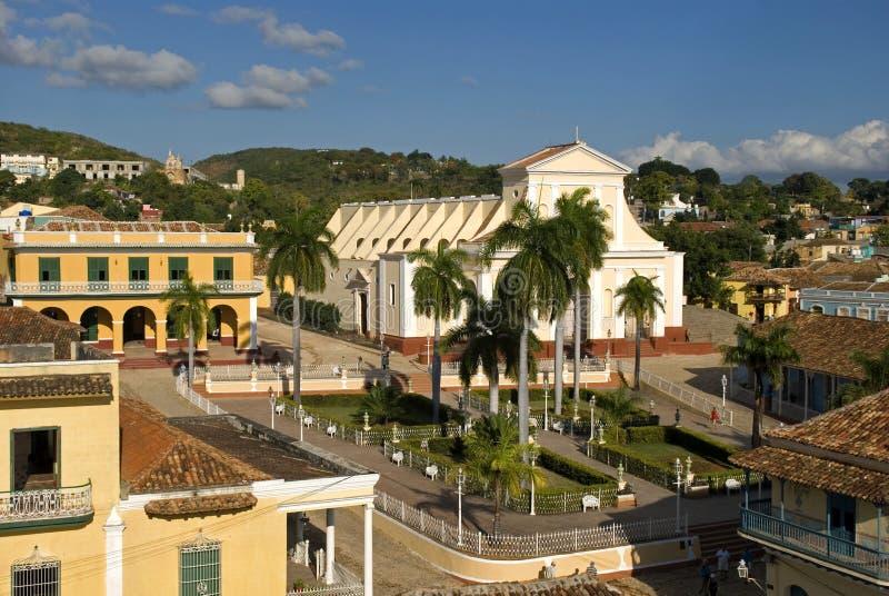 Gammal stad, Trinidad, Kuba arkivfoton