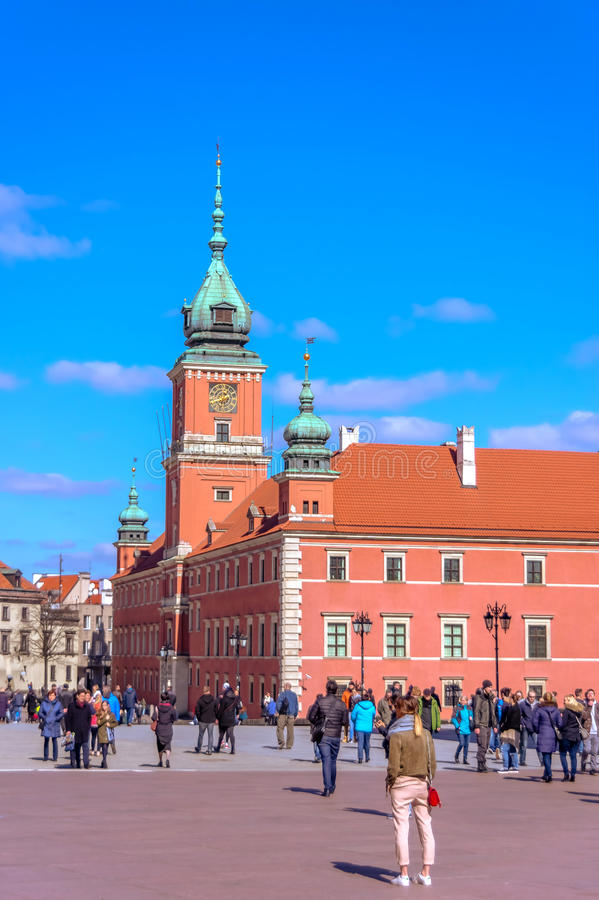 Gammal stad - Warszawa, Polen arkivbild