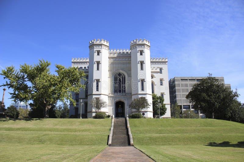 Gammal statlig Kapitolium i i stadens centrum Baton Rouge arkivbilder