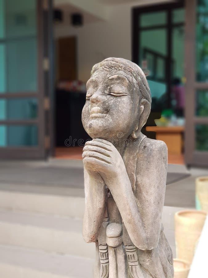 gammal staty för man arkivbilder