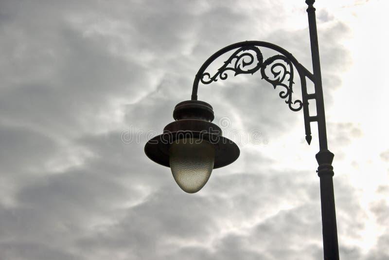 Gammal streetlamp royaltyfria foton