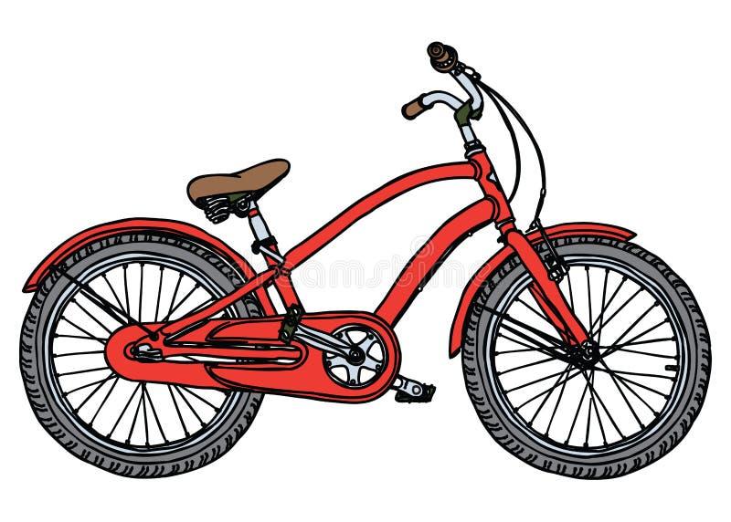 gammal stylized vektor för cykelillustration vektor illustrationer