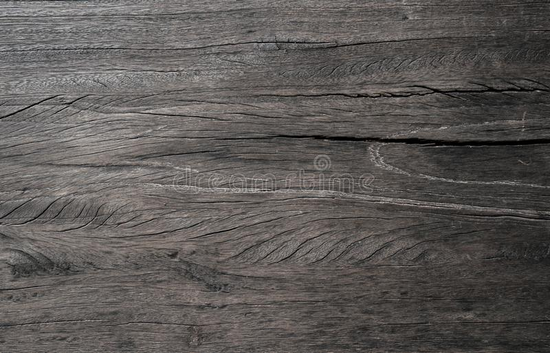 Gammal svart Wood texturbakgrund royaltyfri bild