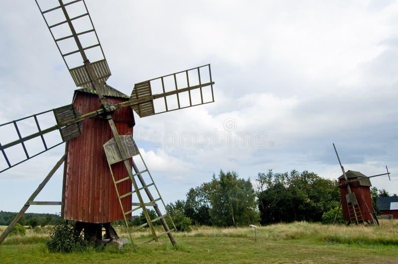 gammal sweden för oland windmill royaltyfria bilder