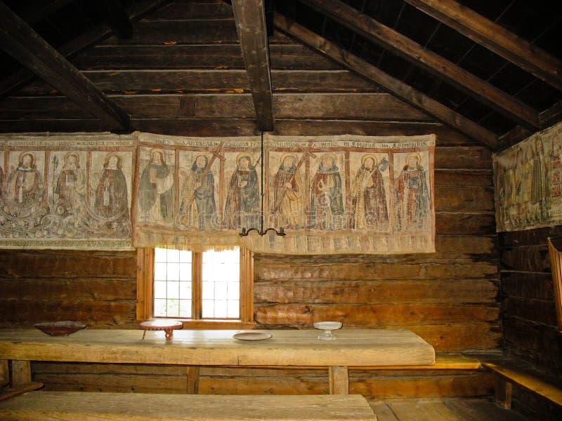 Gammal swedsihtapestry royaltyfri fotografi