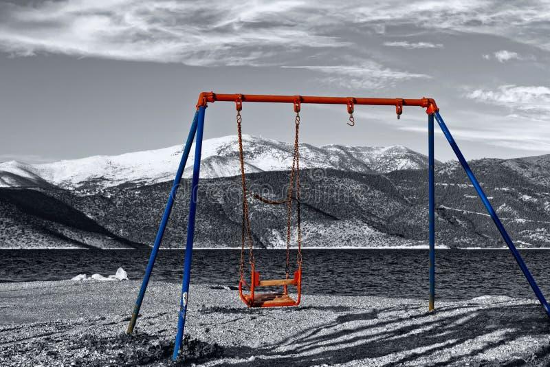 gammal swing för barn royaltyfria foton