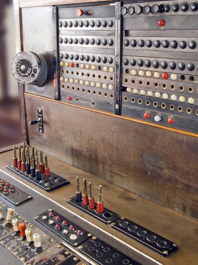 gammal switchboard royaltyfri foto