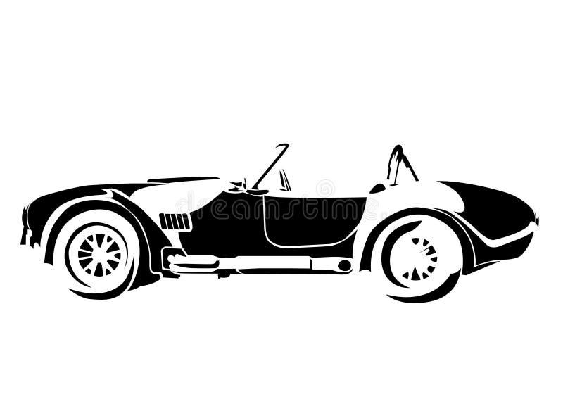 gammal tappning för bil stock illustrationer