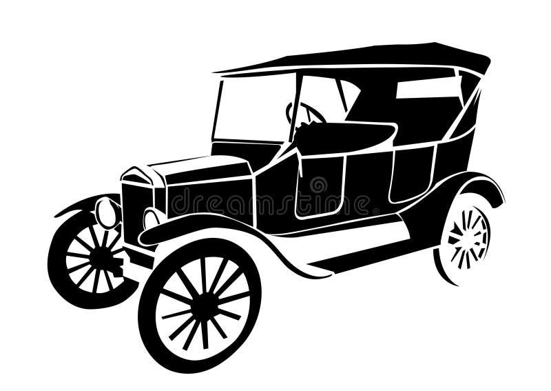 gammal tappning för bil royaltyfri illustrationer