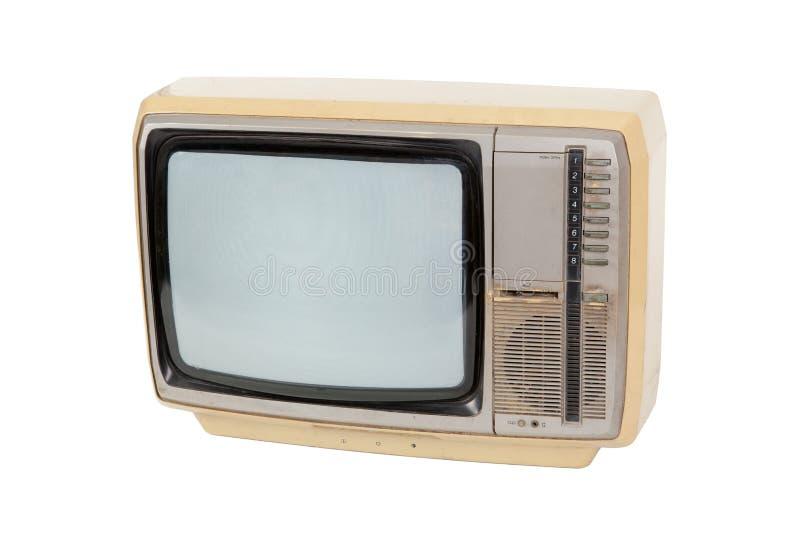 Gammal tappningtelevision royaltyfri foto