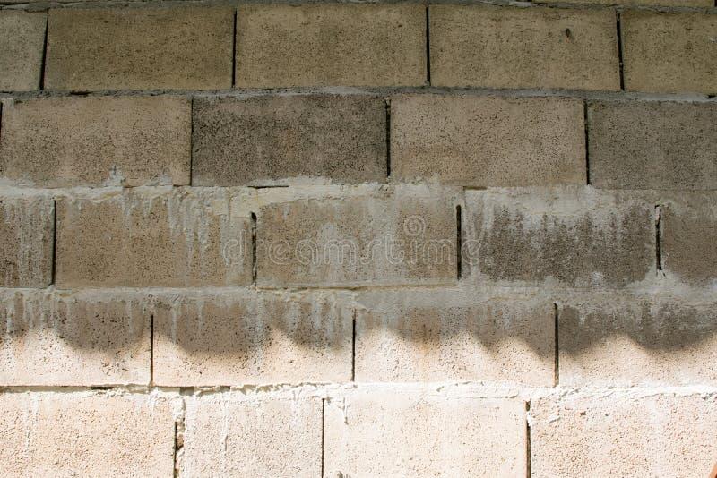 Gammal tegelstenbakgrund, ljus - apelsin i templet fotografering för bildbyråer