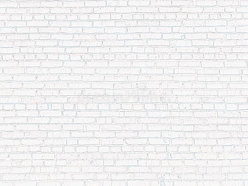 Gammal tegelstenvägg av vit tegelsten arkivfoto