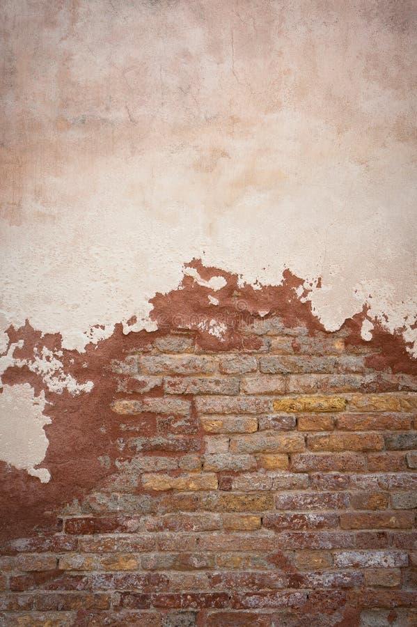 Gammal tegelstenvägg, perfekt grungebakgrund stock illustrationer
