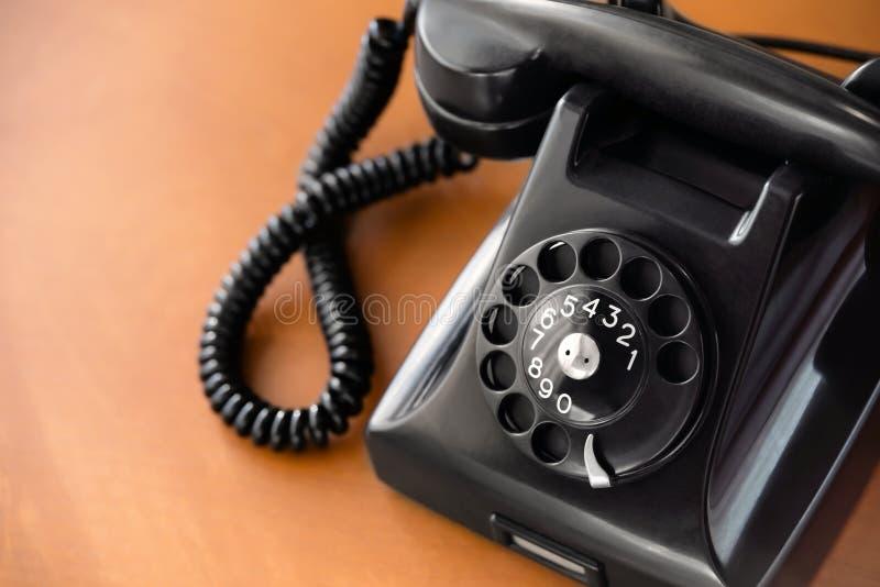 Gammal telefon för roterande visartavla fotografering för bildbyråer