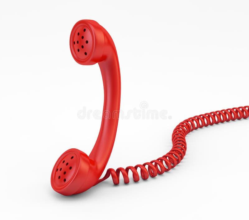 gammal telefon för telefonlur royaltyfri illustrationer