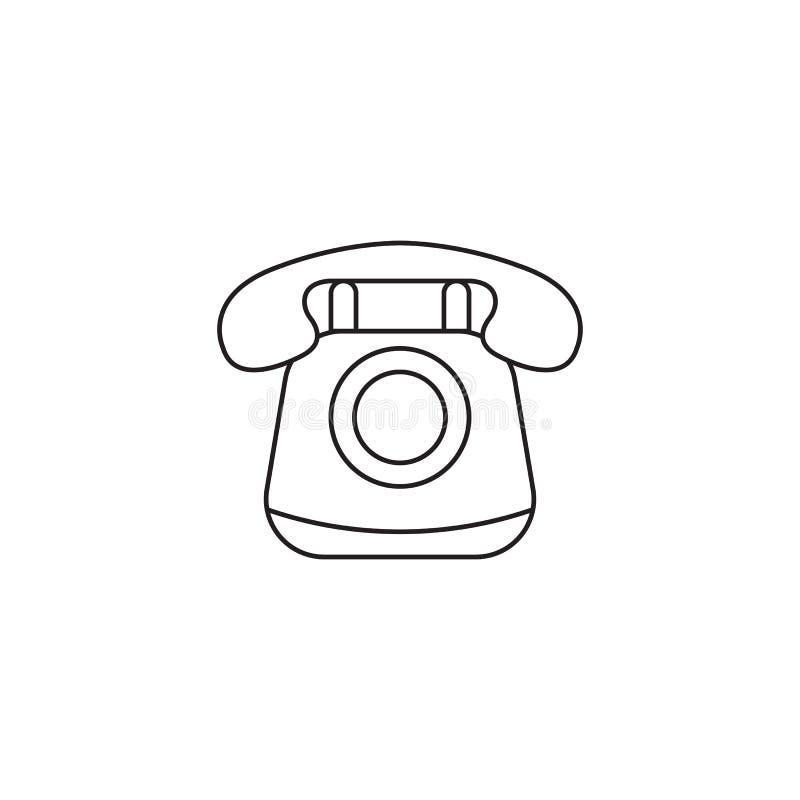 Gammal telefonlinjesymbol, tappning, appell, socialt massmedia stock illustrationer