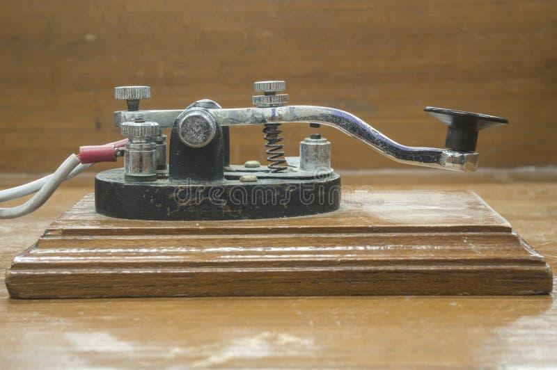 Gammal telegraf för morse tangent royaltyfri foto