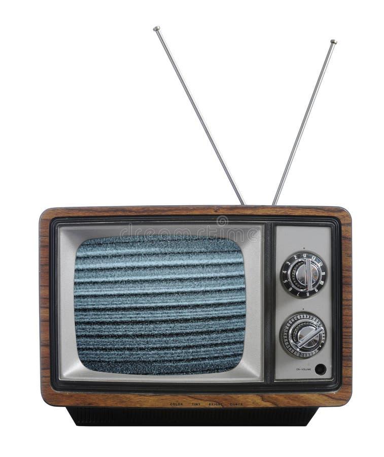 gammal televisionvinatage royaltyfri fotografi