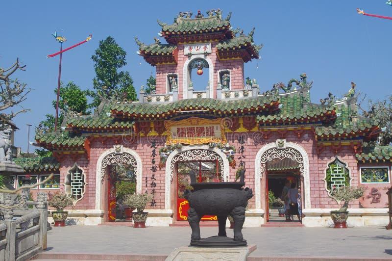 Gammal tempel i Hoi An arkivbilder