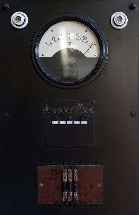 gammal temperatur för gauge arkivfoto
