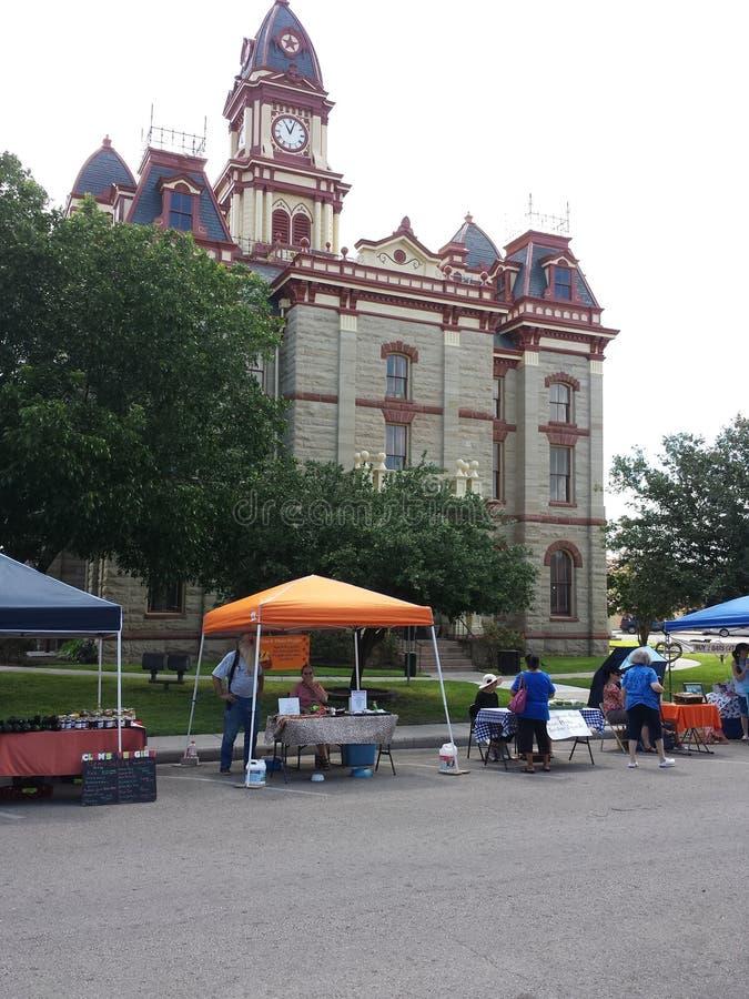 Gammal Texas domstolsbyggnad royaltyfri foto