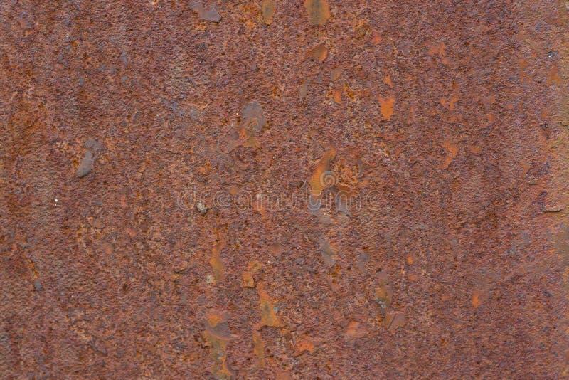 Gammal textur f?r metallj?rnrost Röd brun bakgrund fotografering för bildbyråer