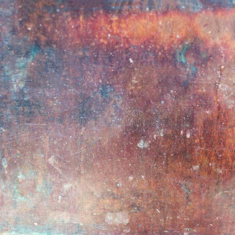 Gammal texturerad bakgrund för metall rost Bakgrund för förfallstålmetall fotografering för bildbyråer