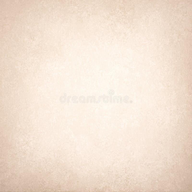 Gammal texturerad vitbok med den bruna gränsen, tappningbakgrundstextur stock illustrationer