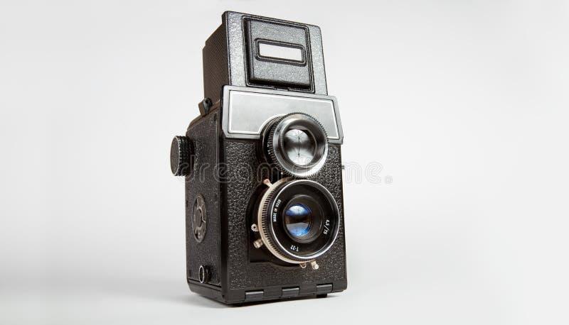 gammal tlr för kamera royaltyfria bilder