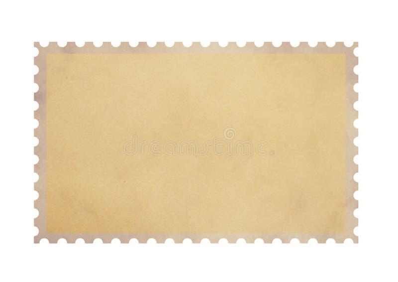 Gammal tom stämpel för portopergamentpapper på vit arkivfoto