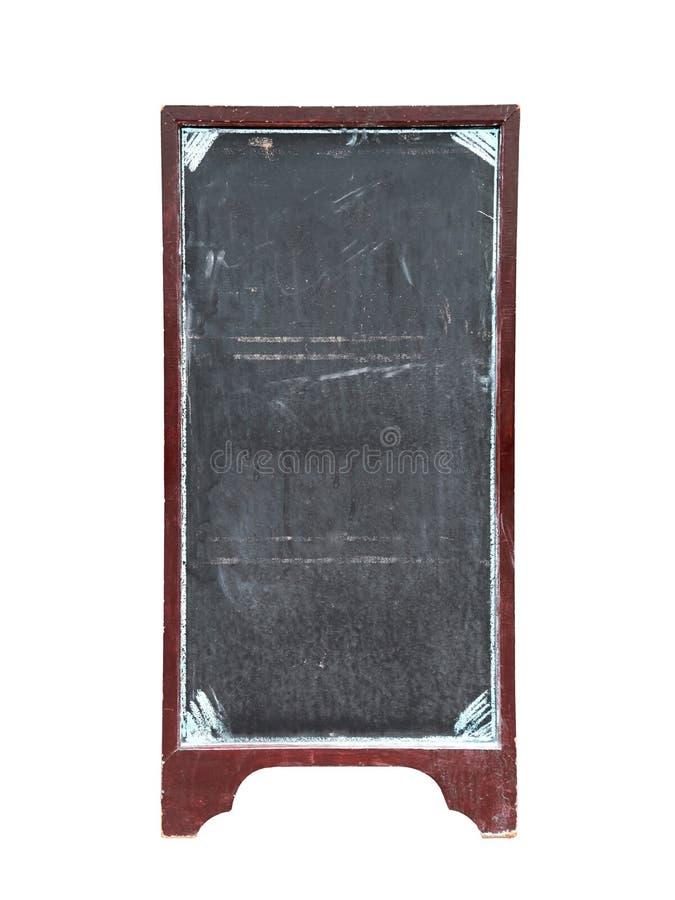 Gammal tom svart tavla för restaurangmeny arkivfoto