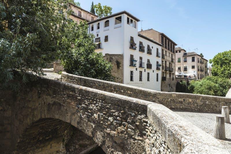 Gammal town av Granada, Spanien royaltyfria foton