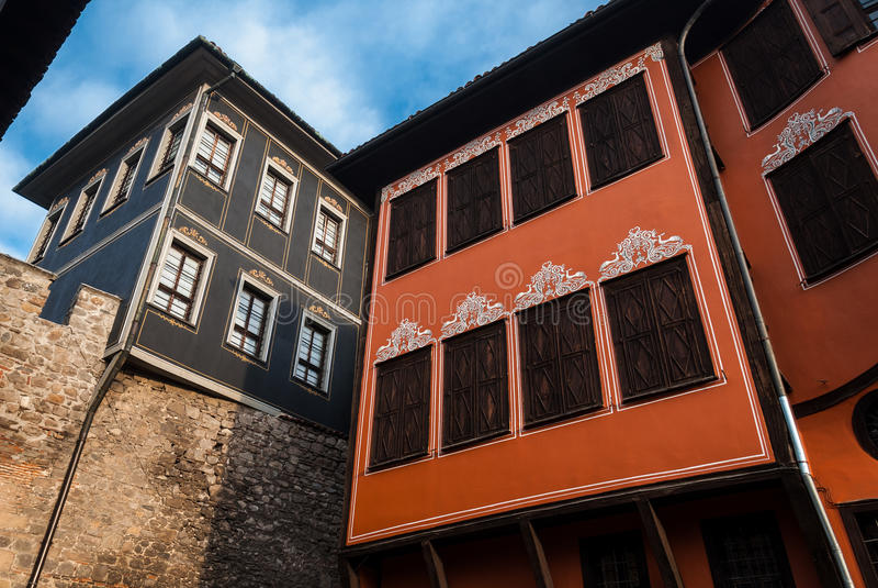 Gammal Town av Plovdiv arkivbilder