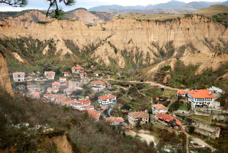 gammal town för bulgarian melnik arkivfoto