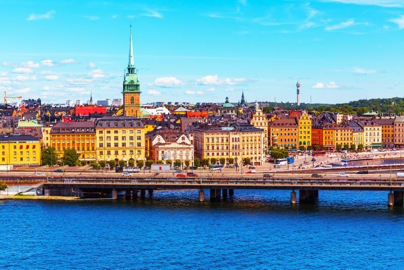 Gammal Town i Stockholm, Sverige royaltyfria bilder