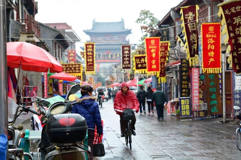 gammal town Luoyang Henan Kina arkivbild