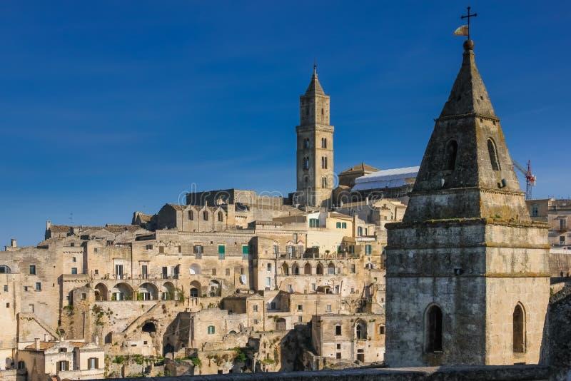 gammal town Matera Basilicata Apulia eller Puglia italy fotografering för bildbyråer