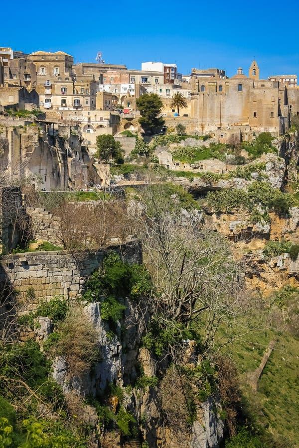 gammal town Matera Basilicata Apulia italy arkivbild