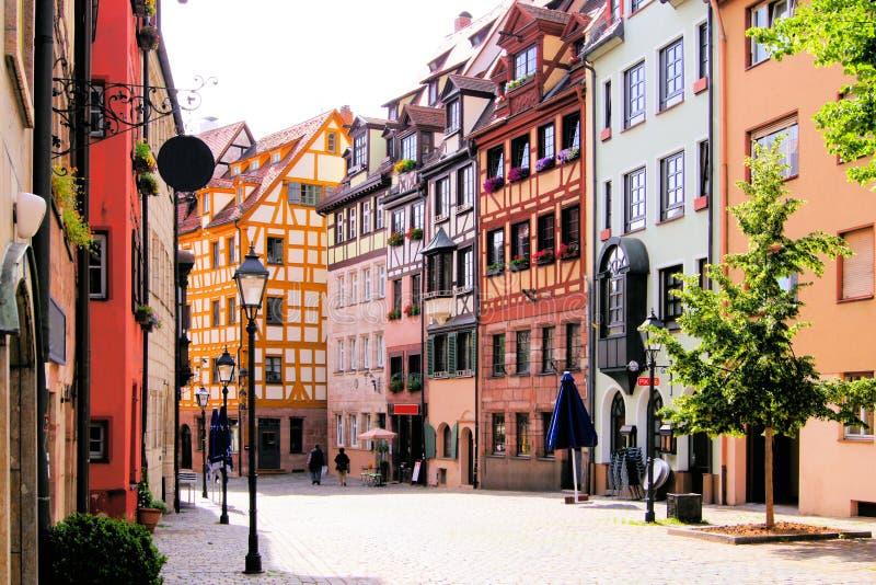 Gammal Town, Nuremberg royaltyfri fotografi