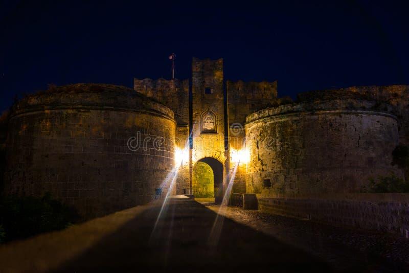 Gammal Town Rhodes royaltyfri bild