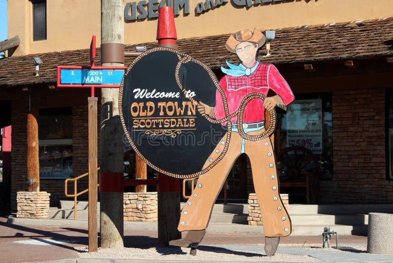 Gammal Town Scottsdale, Arizona arkivbilder