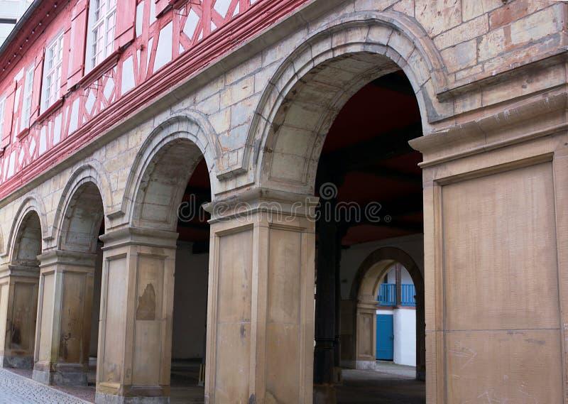 Gammal townhall-I-Waiblingen arkivfoton